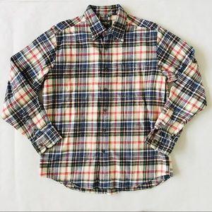Eddie Bauer | Botton Down Flannel Plaid Shirt M